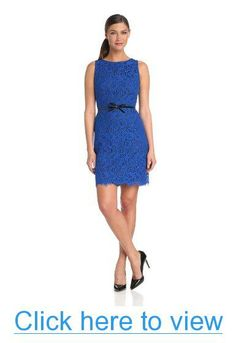 Donna Morgan Women's Sleeveless Fitted Lace Sheath Dress #Donna #Morgan #Womens #Sleeveless #Fitted #Lace #Sheath #Dress