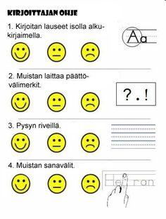 Keskustelu arvioinnin käytänteistä Kindergarten Writing, Teaching Writing, Writing Activities, Kindergarten Handwriting, Teaching Ideas, Writing Lessons, Writing Rubrics, Writing Sentences, Paragraph Writing
