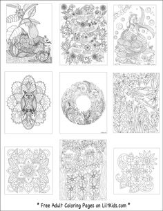 Free Adult Coloring Book Images From LiltKids Pin Now Color Later