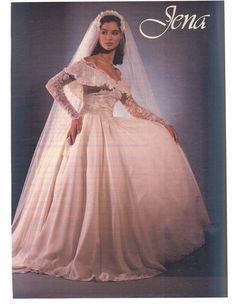 Vintage Bridal Wedding Dresses Dream Gowns Weddings Attire 1980s Brides