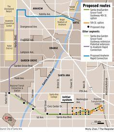 OC streetcar loop map