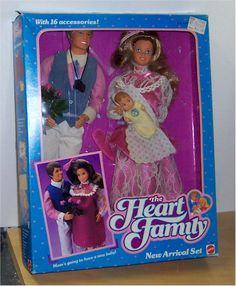 Barbie Heart Family- New Arrival set. Why don't they make families for Barbie anymore???
