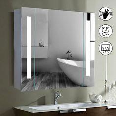 Led Illuminated Bathroom Mirror Cabinet Shaver Demister Sensor Galactic UK: Amazon.co.uk: Kitchen & Home