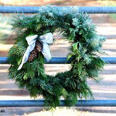Easy DIY instructions of making fresh evergreen wreaths