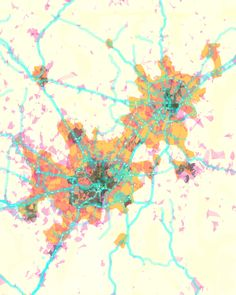 Stamen PrettyMap of Washington, D.C., combining map-making with meaningful data-mining.