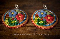 Earrings — Store 1 — CARMEN MILLER, MÉTIS ARTISAN Blue Earrings, Beaded Earrings, Crochet Earrings, Beadwork, Beading, Beaded Moccasins, Elk Antlers, Birch Bark, Quilling Designs