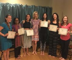 CONGRATULATIONS to these amazing Yogis for graduating from Yoga Shakti's Prenatal Yoga Teacher Training Program!   This is what Samantha Gutierrez had to say about her experience: So happy and grateful to stand beside this amazing group of women holding our certifications as prenatal yoga teachers! I have learned so much from each and every one of them and from our amazing teacher Andrea ! Excited to use what I have learned to help expecting mothers prepare their mind and bodies for birth. Prenatal Yoga, Yoga Teacher Training, Bridesmaid Dresses, Wedding Dresses, Training Programs, Yoga Inspiration, Grateful, Bodies, Mothers