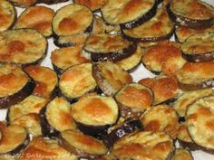 Oven roasted eggplant: slice eggplant,  cover with mayo and parmesan. Bake 10-12 minutes on 450.