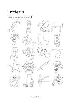 Werkbladen - taal - letters leren ~ Juf Milou Alphabet Worksheets, Kindergarten Worksheets, Speech Language Therapy, Speech And Language, Teaching Writing, Writing Skills, I Love School, School Posters, Printable Letters