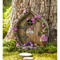Wind & Weather Shoes Door Fairy Garden Best Picture For diy fairy garden id Fairy Tree Houses, Fairy Garden Houses, Fairies Garden, Garden Angels, Gnome Garden, Lawn And Garden, Garden Art, Garden Ideas, Garden Water