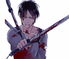 Eren Jeager // AoT    idk why but I feel a bit sad about this pic even though it's not really that tragic. Maybe the expression on Eren face?