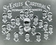 St. Louis Cardinals 1926 Pennant Winners