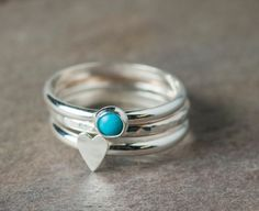 Stacking Rings by UnkamenSupplies Diy Jewelry Rings, How To Make Rings, Engraving Services, Stacking Rings, Silver Rings, Stamp, This Or That Questions, Sterling Silver, Heart