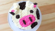 A spotted cow cake – inside and out!