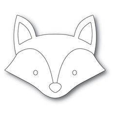 Simon Says Stamp BIG PICTURE BOOK FOX Wafer Dies s569 at Simon Says STAMP! Animal Templates, Applique Templates, Art Template, Fuchs Illustration, Fox Crafts, Simon Says Stamp Blog, Felt Fox, Animal Bag, Shrink Art