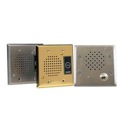 VALCOM VC-VIP-172L-BRASS IP Intercom, Flush Mount, Brass