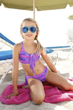 Peixoto 2016 Kids Bikini. It's cut to fit perfectly and comfortable so your girl can spend the day building sandcastles and running around with ease. #kidsbikinis
