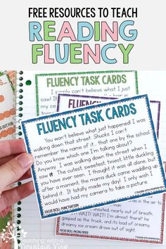 Reading Fluency Activities, Teaching Reading, Reading Comprehension, Free Reading, Guided Reading, Reading Task Cards, Reading Tutoring, Fluency Practice, Close Reading