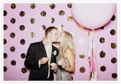 Taylor's pink and gold polka dot photo booth by tomfoolerysf!