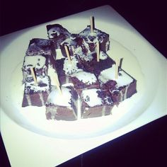 Brownies con nata
