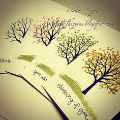 Linda Higgins: Video Tutorial: Four Seasons card set with the Sheltering Tree
