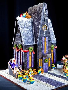 15 Amazing Gingerbread Houses: The helpful minions from the movie emDespicable Me/em have the Christmas spirit. They decorated Grus house with holly and wreaths and now theyre going to pull the sleighs. First place winner in teen category, Carly Owens from Swannanoa, N.C. From DIYnetwork.com