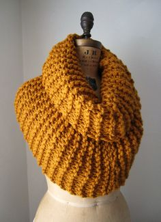 Super Snuggly chunky knit cowl Amber Infinity scarf by Happiknits