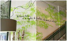 Décoration murale pour le restaurant Manora à Sion en Suisse.