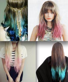 "PEACOCK!!! loveeee    20"", Peacock Feather Hair Extensions//Peacock Ombre//Peacock DipDye//BurningMan//Teal, Emerald Green and Blue Hair //(7) Pieces//20""."