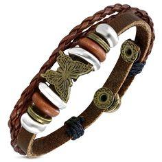 Dámský proplétaný náramek vyrobený z pravé kůže Leather Jewelry, Diy Jewelry, Bracelets, Fashion, Moda, Fashion Styles, Fasion, Bracelet, Arm Bracelets