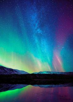 Northern Lights - A really amazing and beautifully coloured Aurora ~ Beautiful Sky, Beautiful Landscapes, Beautiful Places, Digital Foto, 5d Diamond Painting, Natural Phenomena, Amazing Nature, Belle Photo, Night Skies