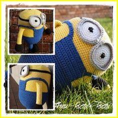 Frau Tschi-Tschi: Minion XL Amigurumi Freebie - crochet pattern free - Häkelanleitung kostenlos