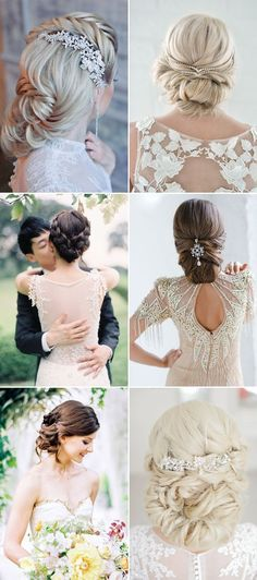 Bridal Updo Wedding Hairstyles / http://www.himisspuff.com/bridal-wedding-hairstyles-for-long-hair/29/