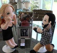 custom plush dolls for engagement