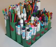 This caddy holds more than 300 pens, pencils, and markers and is almost a year old.  It turns out to be remarkably durable and easy to repair.  When m...
