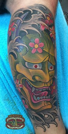 Japanese Hannya #tattoo by Rinto