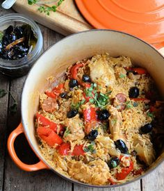 """Spanish Chicken and Rice - One Pot Winter Wonder. This recipe for Spanish Chicken and Rice is a great example of how you can rustle up a tasty one pot family meal and with the minimum of hassle and fuss. It's the first in a mini seried of """"One Pot Winter Wonders"""" for you to enjoy."""