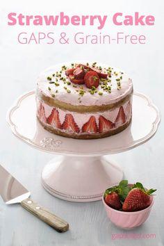 Strawberry Coconut Flour Cake (GAPS and Paleo) #LCHF #banting #lowcarb #realmeals