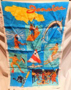 A personal favorite from my Etsy shop https://www.etsy.com/listing/455578226/jamaica-linen-souvenir-towel-irish-linen