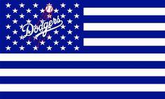 Amazon.com: MLB Baseball Los Angeles Dodgers 3x5 Flag Banner: Sports & Outdoors