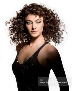 FRANCESCO GROUP Lange Braun Weiblich Curly gewellte Shaggy Frauen Frisuren hairstyles