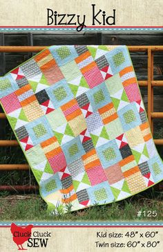 Cluck Cluck Sew - Bizzy Kid Quilt Pattern - Fat Quarter Friendly. $7.50, via Etsy.