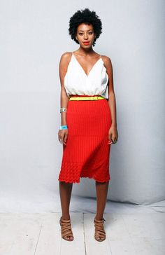 Solange Knowles #colorblocking