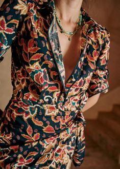 Parisian Style, Printed Cotton, Spring Summer Fashion, Autumn Fashions, Long Sleeve Shirts, Short Dresses, Style Inspiration, Clothes For Women, My Style