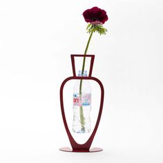 Primavera Bottle Vase Red