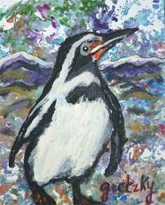 Penguin Painting by Paintings by Gretzky - Penguin Fine Art Prints and Posters for Sale