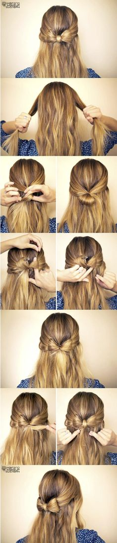 DIY Hair Tutorails 5 simple but Cute and quick hairstyles idea.Learn Step-by-Step for the best lovely hair styles which can take as little as 5 to 15 minutes to create. The post Beautiful Hair Trends And The Hair Color Ideas appeared first on Hair Styles. Hair Day, New Hair, Your Hair, Hair In A Bow, Hair Bow Style, Step By Step Hairstyles, Cute Hairstyles, Hairstyle Ideas, Hairstyle Tutorials