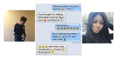 """me and bae would text like this//jadah"" by b-l-e-s-s-ed ❤ liked on Polyvore featuring moda, women's clothing, women's fashion, women, female, woman, misses e juniors"