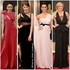 FASHION FROM THE OSCARS 2014#OlgaKurylenko in #AliceElia #Dress an #Oroton #clutch and #Bvlgari #Jewelry#AnnaKendrick in #JMendel #dress #Piaget Jewels #Rauwolf Clutch and #ChristianLouboutin #shoes.#PenelopeCruz in #GiambattistaValli and #Chopard #Jewels.#JuliaRoberts in #Givenchy #CoutureGown with #Bulgari Jewels.#Fashion #style #theoscars2014... - Celebrity Fashion