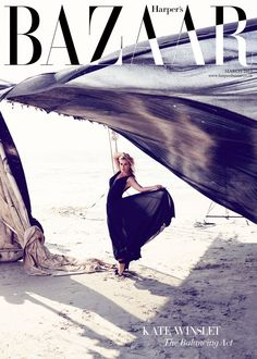 Kate Winslet, photographed by Alexi Lubomirski for Harper's BAZAAR UK, March (click the image for extremely high-res photo. Fashion Magazine Cover, Fashion Cover, Vogue Magazine, Fashion Fashion, Fashion Glamour, Fashion News, Fashion Trends, Magazin Covers, Bazaar Ideas